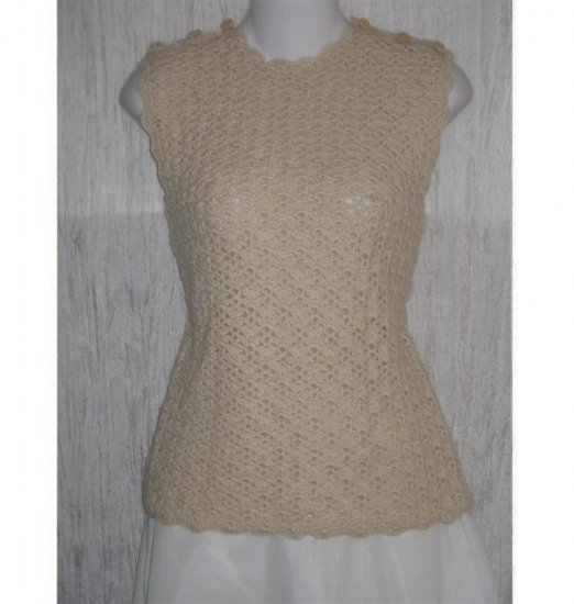 Delicate Cream Vintage Knit Boutique Layering Sweater M