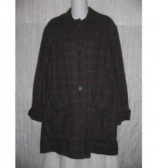 Angelheart Designs Engelhart FLAX Long Plaid Wool Tunic Jacket