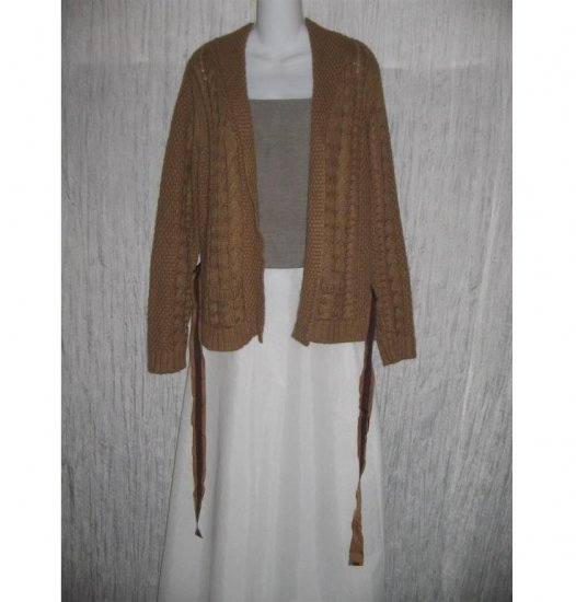 Talbots Shapely Brown Belted Cardigan Sweater Jacket Small Petite SP