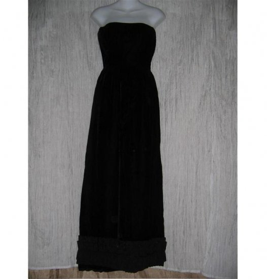 VINTAGE BLACK VELVET GOTH GOWN GOTHIC DRESS SIZE SMALL S