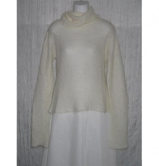 Free People Ethereal White MOHAIR Pullover Sweater Large L