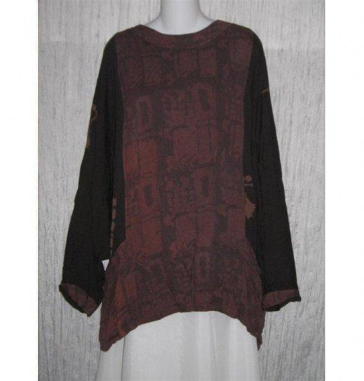 KUSNADI Long Loose Rayon Batik Tunic Top Shirt One Size