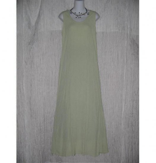 Jeanne Engelhart FLAX Lemon Lime Gingham Slipster Sequence Dress Small S