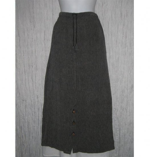TRIBE Boutique Earthy Cotton Drawstring Skirt Medium M