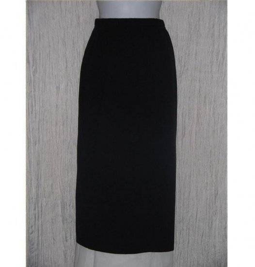 KAREN LESSLY Long Black Acrylic Knit Skirt Petite Medium PM