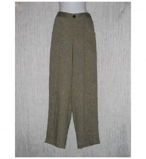 New FLAX Earthy Long LINEN Pants Jeanne Engelhart Small S