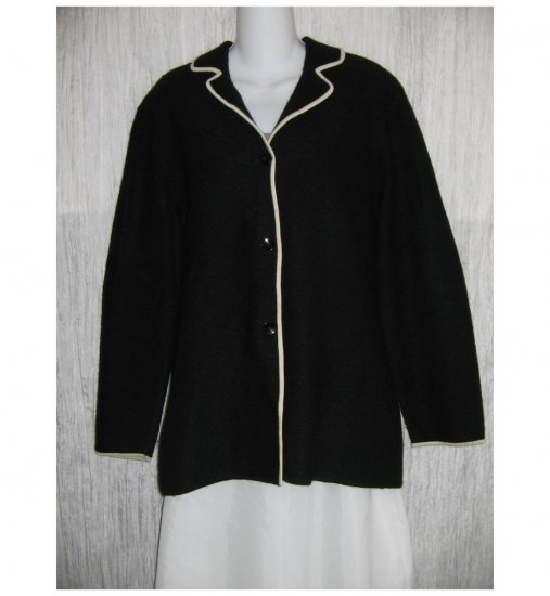 Josephine Chaus Black Wool Button Jacket Cardigan X-Large XL