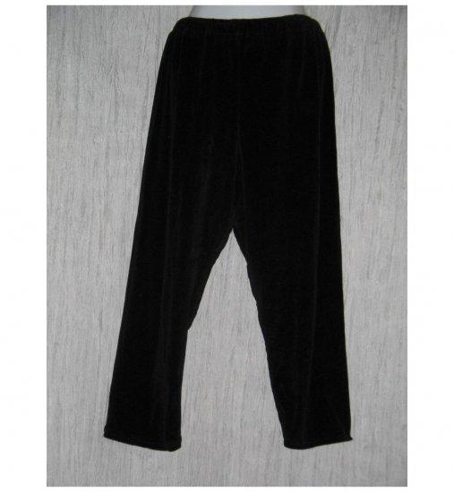 Angelheart Designs by Jeanne Engelhart Flax Black VELOR Leggings Pants Medium M