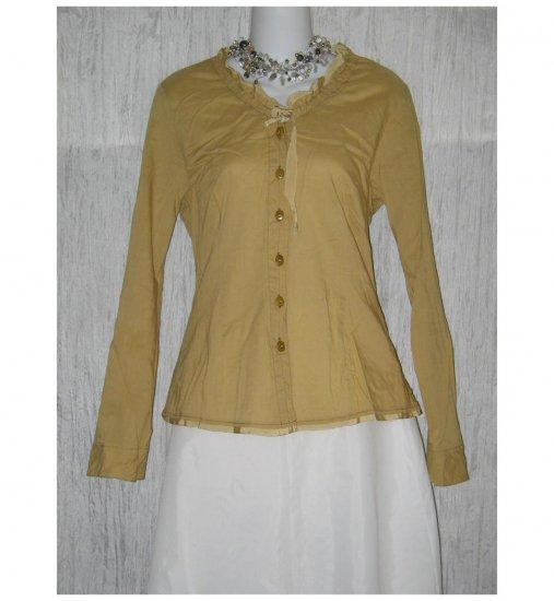 Neesh by D.A.R. Mustard Cotton Shapely Tunic Top Shirt Medium M
