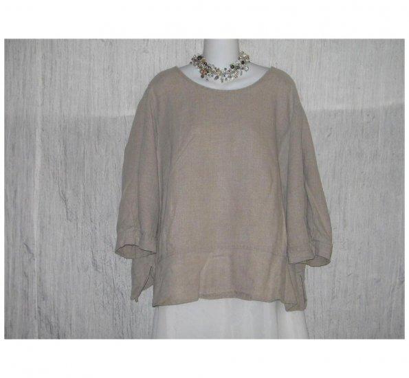 FLAX Skirted Linen Pullover Shirt Tunic Top Jeanne Engelhart 2G