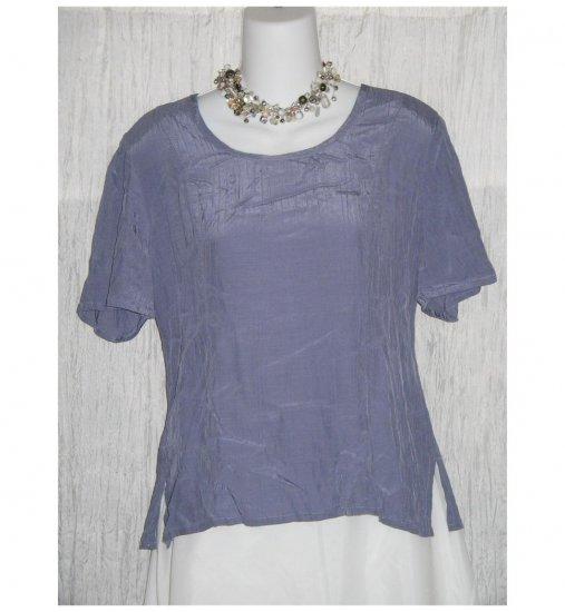 Flax Shapely Purple Rayon Tunic Top Shirt Jeanne Engelheart Small S