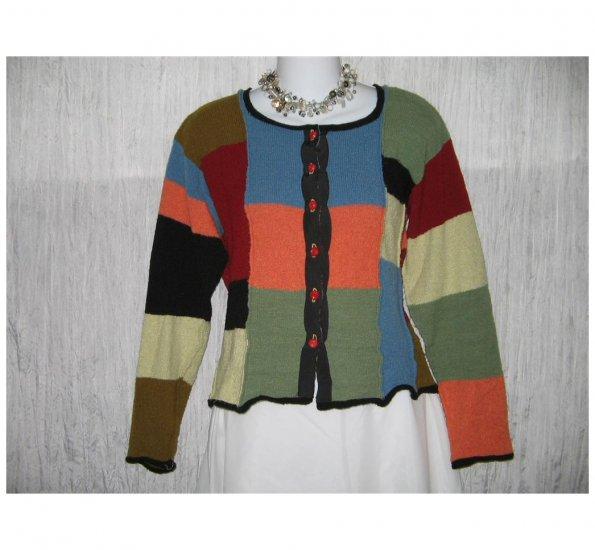 Neesh by D.A.R. Rainbow Striped Sweater Merino Wool MEDIUM M