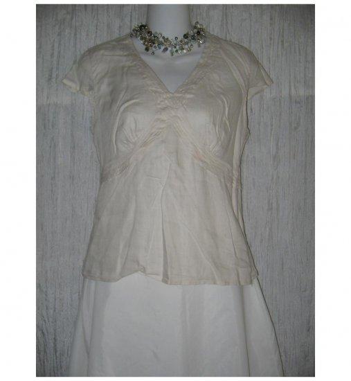 Saint Tropez West Soft Natural Linen Shapely Shirt Medium M