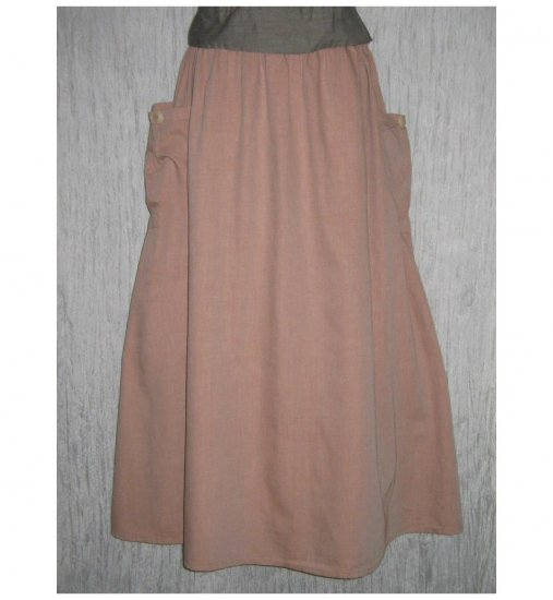 NWT FLAX Long & Full Soft Cotton Blush Pocket Skirt Jeanne Engelhart 1G