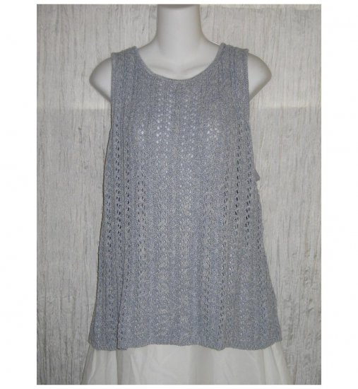 NWT Company Ellen Tracy Blue Knit Sweater Tank 2X
