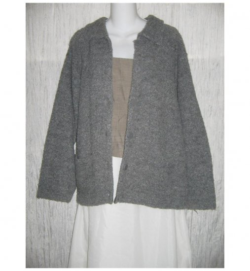 Knitworks by Marisa Christina Nubby Gray Cardigan Sweater X-Large XL