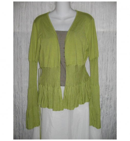 Kaily . K Green Fitted Cardigan Sweater X-Large XL