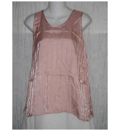 Jeanne Engelhart FLAX Pink Slinky Rayon Tank Top Shirt Medium M