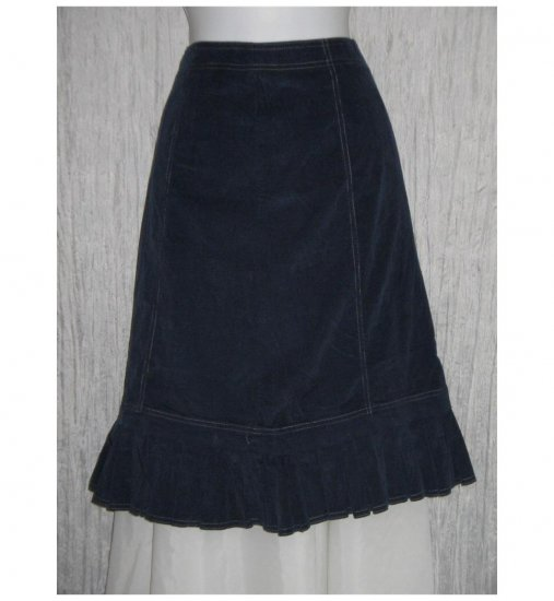 New Solitaire Blue Featherwale Corduroy Shapely Skirt Medium M