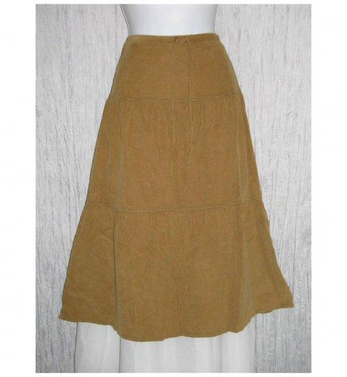 New Solitaire Tan Featherwale Corduroy Shapely Skirt Medium M