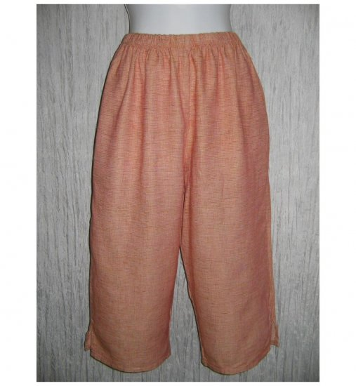 New Jackie Loves John Boutique LINEN & Silk Cropped Beach Pants Small S