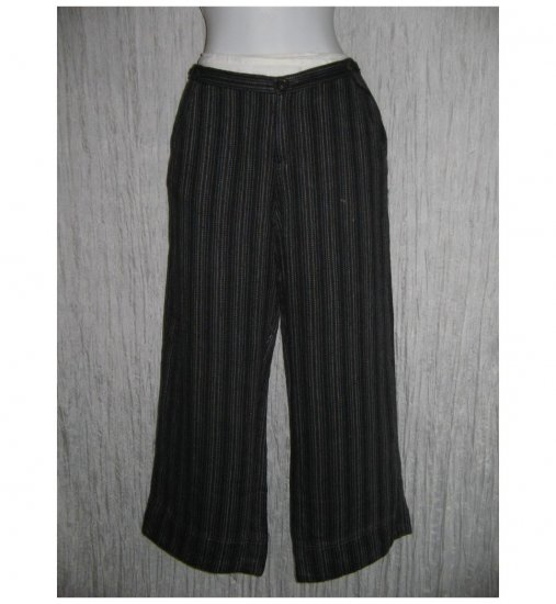 New Solitaire Striped Linen Trousers Pants Medium M