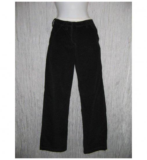 New Solitaire Boutique Wide Leg Black Corduroy Trousers Pants X-Small XS