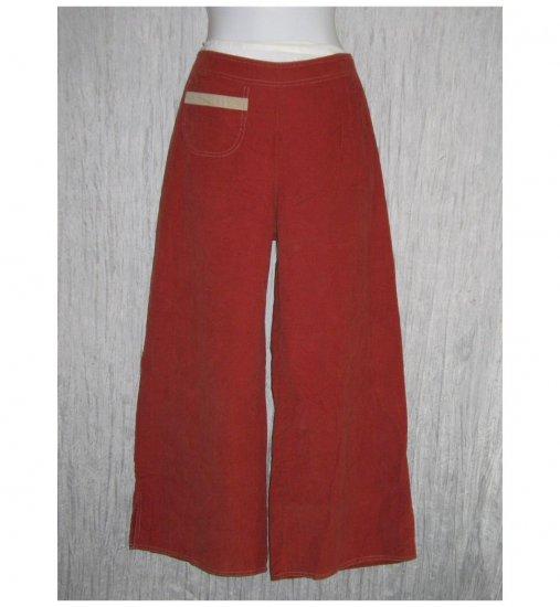 New Solitaire Boutique Wide Leg Red Corduroy Trousers Pants Large L