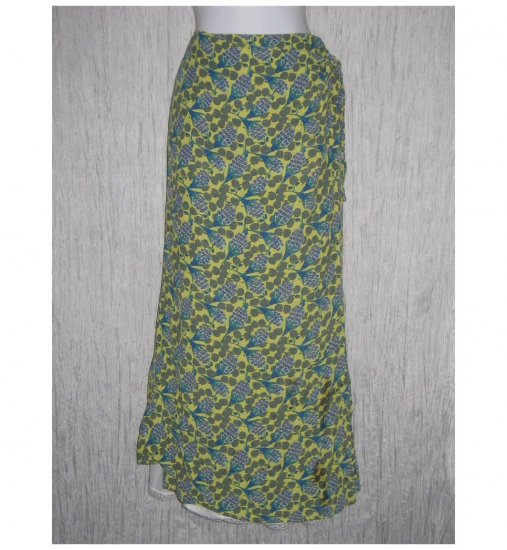FLAX by Jeannge Engelhart Long Tropics Wrap Skirt Small S
