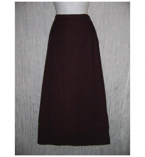 FLAX Long Shapely Plum Corduroy Skirt Jeannge Engelhart Large L