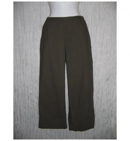 CP SHADES Shapely Brown Cotton Pants Small S