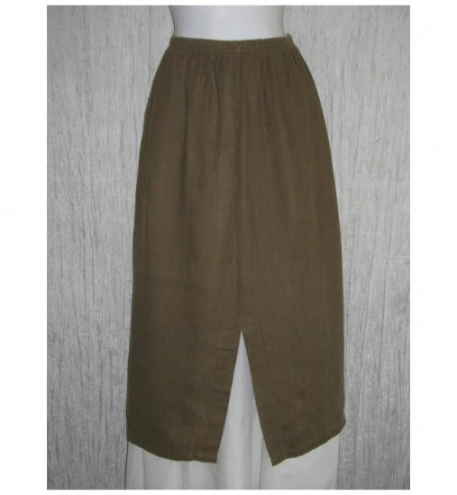 Tom Tom Boutique Long Brown Linen Skirt Small S