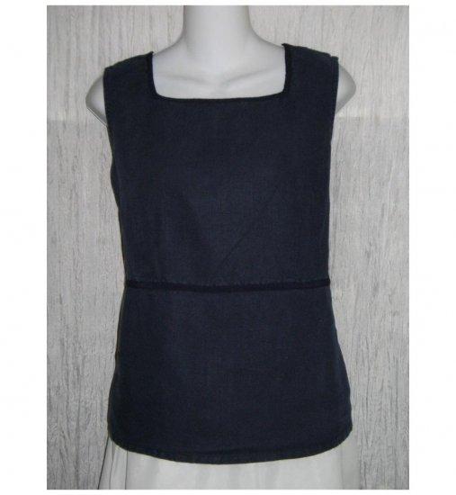 Talbots Blue Linen Rayon Tank Top Shirt Petite Small PS