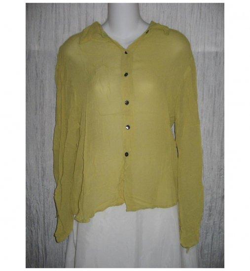 Putumayo Airy Silk Rayon Button Shirt Tunic Top Small S Medium M