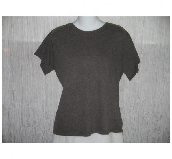FLAX by Jeanne Engelhart Earthy Cotton Tee Shirt Large L