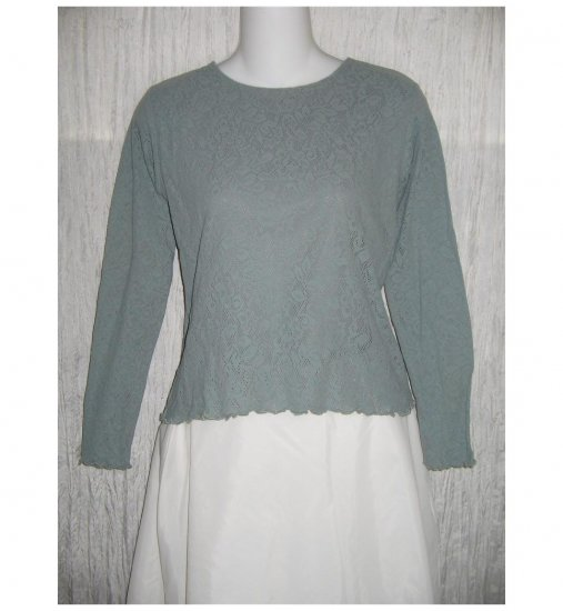Les Tout Petits by Lois Letzt Lace Knit Layered Shirt Top Shirt 16 S M