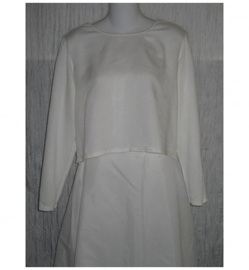 PUTUMAYO White Rayon Cropped Pullover Top Shirt Small S