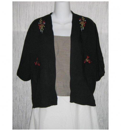 Vintage Style Black Japanese Dragon Embroidered Jacket 14