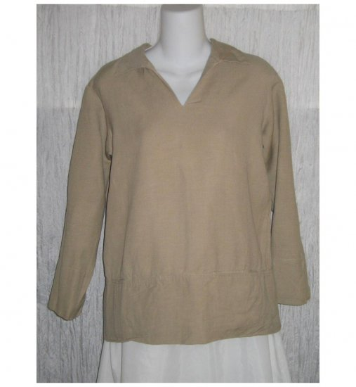 Cotton World Boutique Tan Pullover Shirt Tunic Top X-Small XS