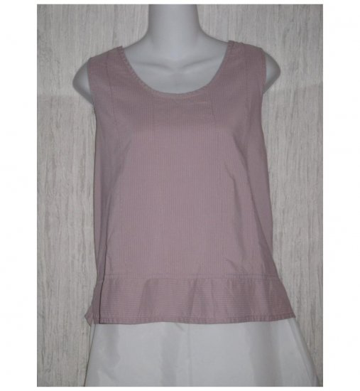 Jeanne Engelhart FLAX Lilac Cotton Rayon Tank Top Shirt Medium M