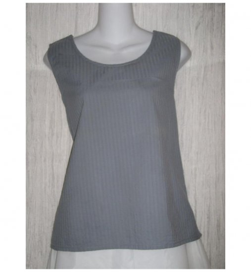 Jeanne Engelhart FLAX Blue Cotton Tank Top Shirt Medium