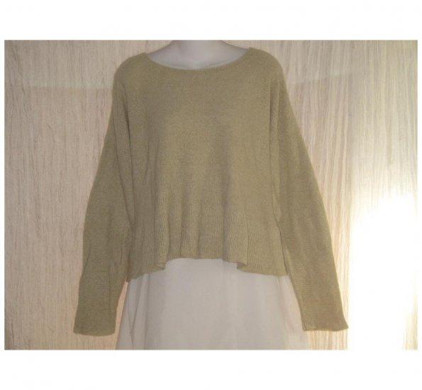 FLAX by ANGELHEART Oatmeal Cashmere Blend Tunic Sweater Engelhart S M