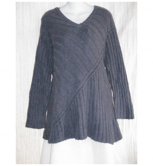 FLAX Soft Blue Pima Cotton Tunic Sweater Engelhart M L