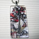 New Alice in Wonderland Necklace Painting the Roses Red