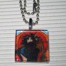 Art Glass Necklace Alphonse Mucha Medee Sarah Bernhardt