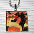 Altered Art Glass Pendant Necklace Alphonse Mucha Job