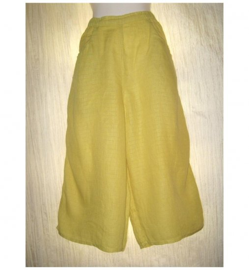 Jeanne Engelhart FLAX Mustard Yellow Flood Pants Large L