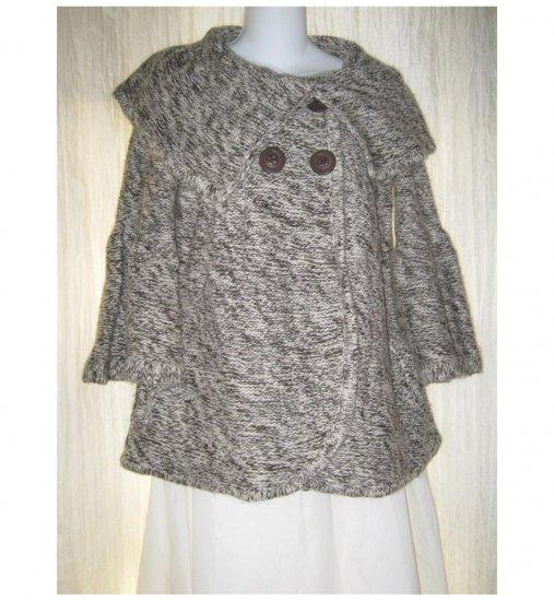 Vertigo Paris Cozy Brown Wide Collar Cardigan Sweater Medium M