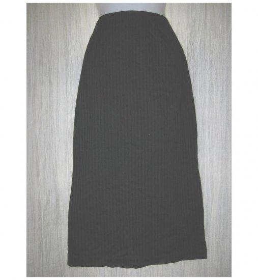 PATINA Boutique Long Shapely Black Textured Skirt Medium M