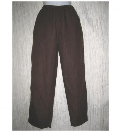 In the Wash Cropped Brown Linen Pants Small S